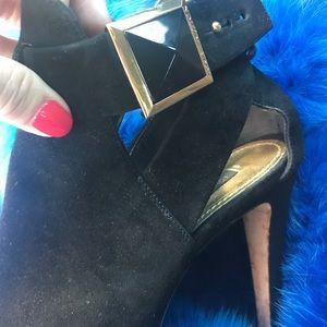 1 DAY SALE!! Louis Vuitton black suede bootie  37